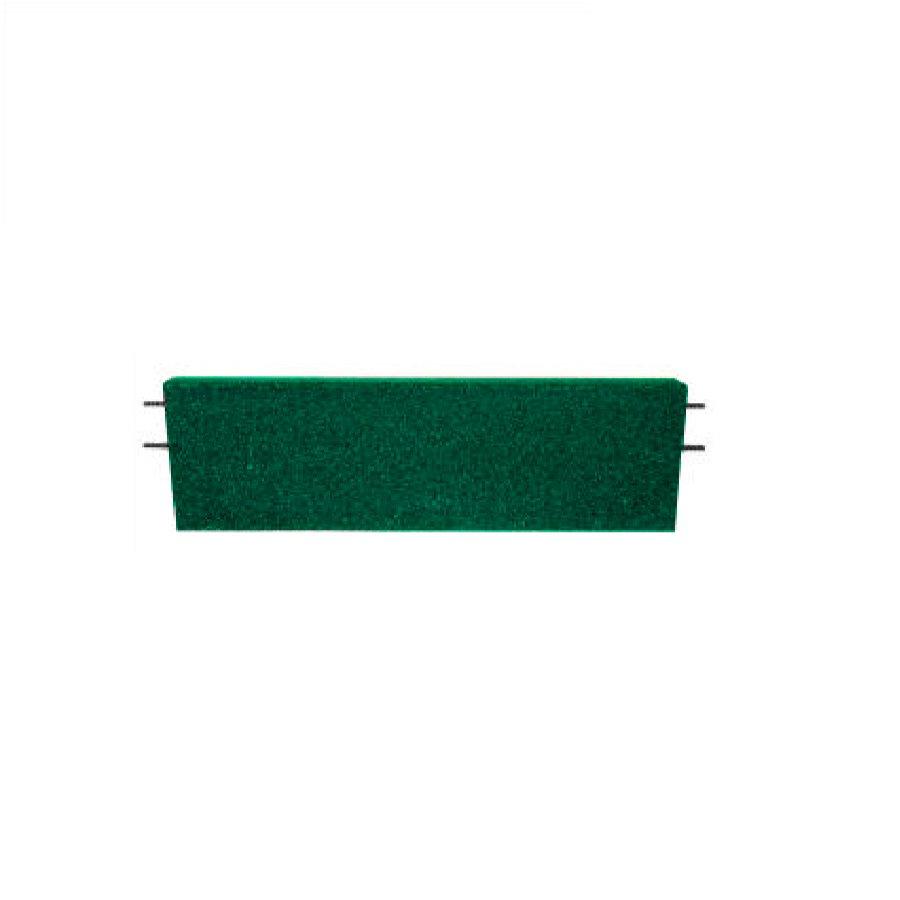 Zelený rovný nájezd pro gumové dlaždice - délka 75 cm, šířka 30 cm a výška 4 cm
