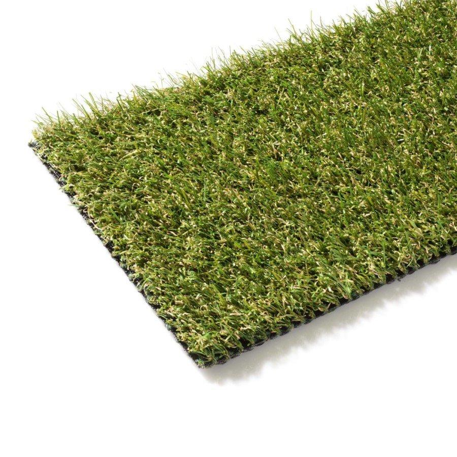 Zelený metrážový umělý trávník Pesaro, FLOMA - délka 1 cm a výška 2 cm