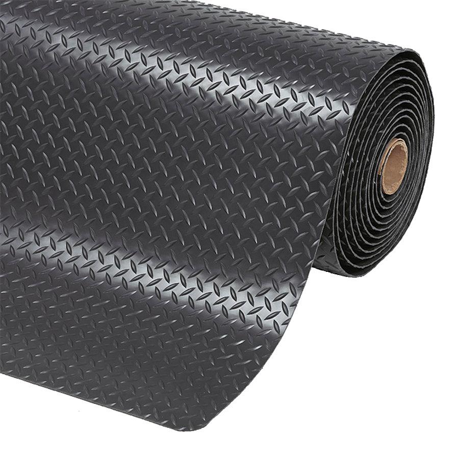 Černá protiúnavová průmyslová laminovaná rohož Saddle Trax - výška 2,54 cm