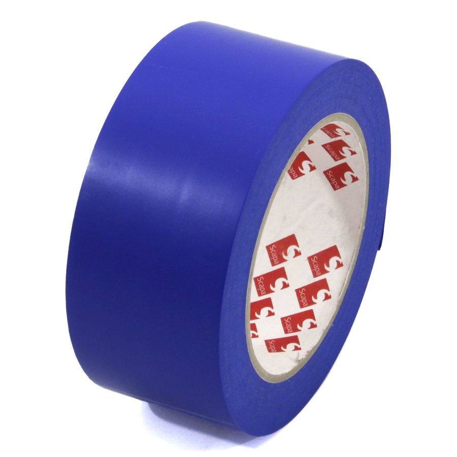 Modrá vyznačovací páska Super - délka 33 m a šířka 5 cm