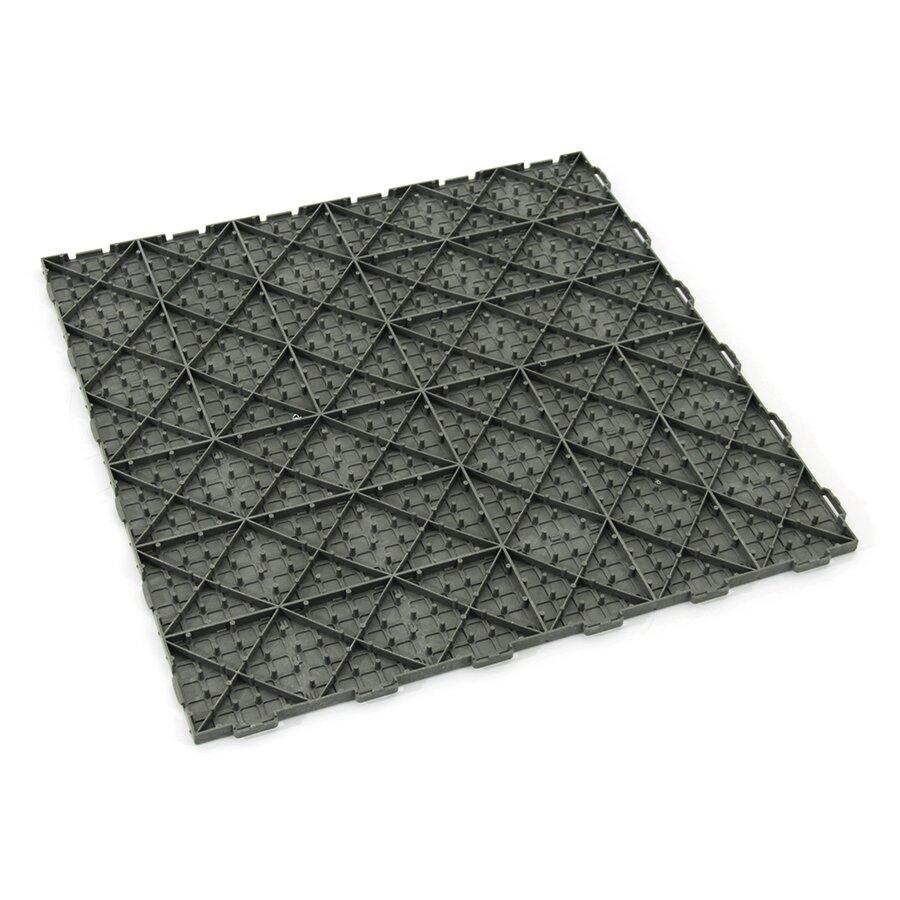 Šedá plastová terasová dlažba Linea Marte - délka 56,3 cm, šířka 56,3 cm a výška 1,3 cm
