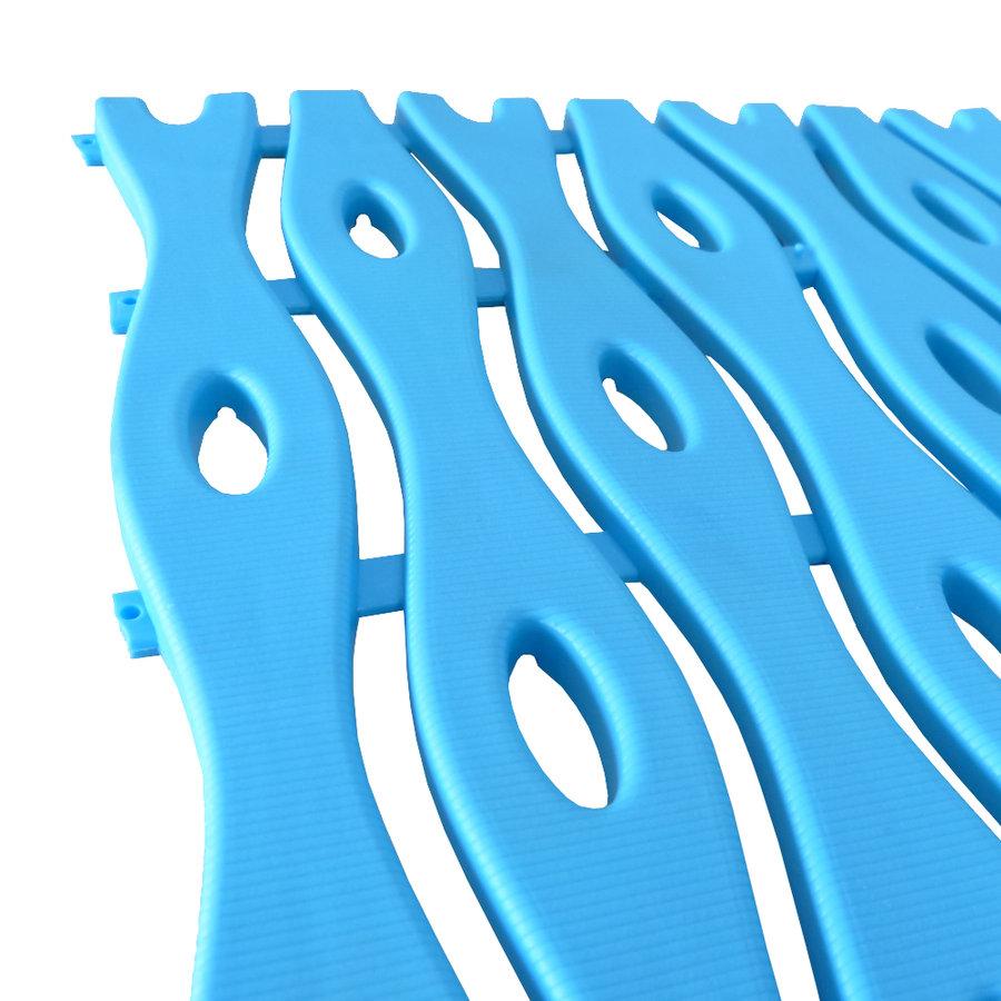 Modrá plastová bazénová rohož - délka 12 m, šířka 60 cm a výška 0,8 cm