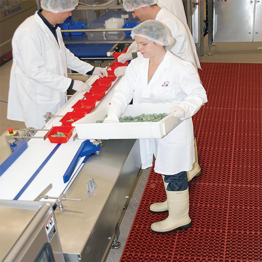 Červená gumová protiúnavová rohož Sanitop Deluxe Red - délka 91 cm, šířka 152 cm a výška 2 cm