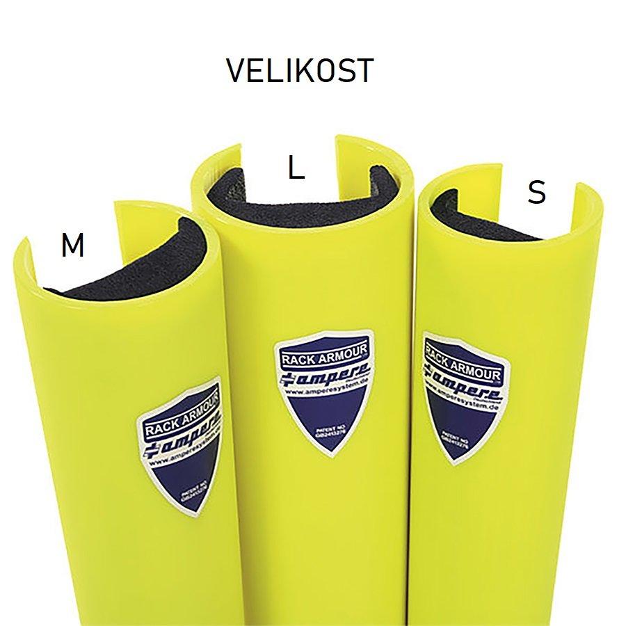 Žlutá ochranná nárazová hrana - délka 59,5 cm a šířka 11 cm