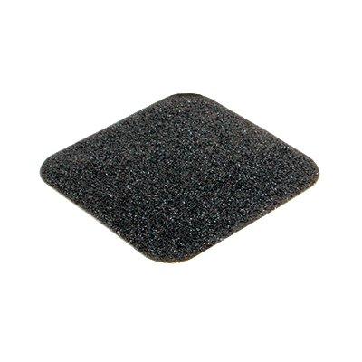 Černá korundová protiskluzová samolepící podlahová páska (dlaždice) - délka 14 cm a šířka 14 cm - 10 ks