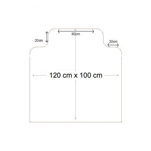 Čirá podložka pod židli na koberec 03 - délka 120 cm, šířka 100 cm a výška 0,3 cm