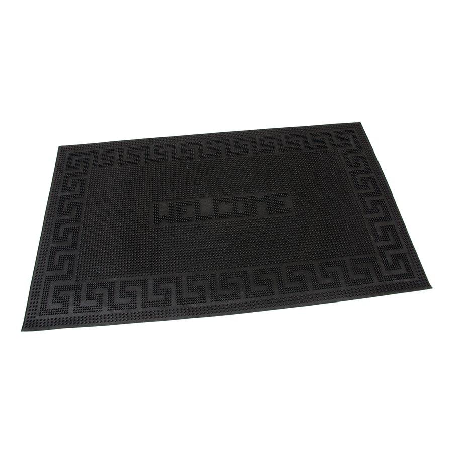 Gumová čistící venkovní vstupní rohož Welcome - Deco, FLOMAT - délka 45 cm, šířka 75 cm a výška 0,6 cm