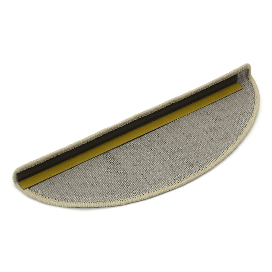 Hnědý kobercový půlkruhový nášlap na schody Imola - délka 17 cm a šířka 56 cm