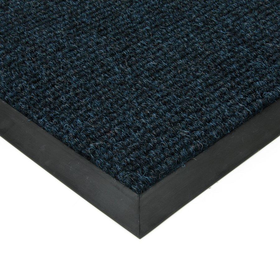 Modrá textilní vstupní vnitřní čistící zátěžová rohož Catrine, FLOMA - délka 50 cm, šířka 80 cm a výška 1,35 cm