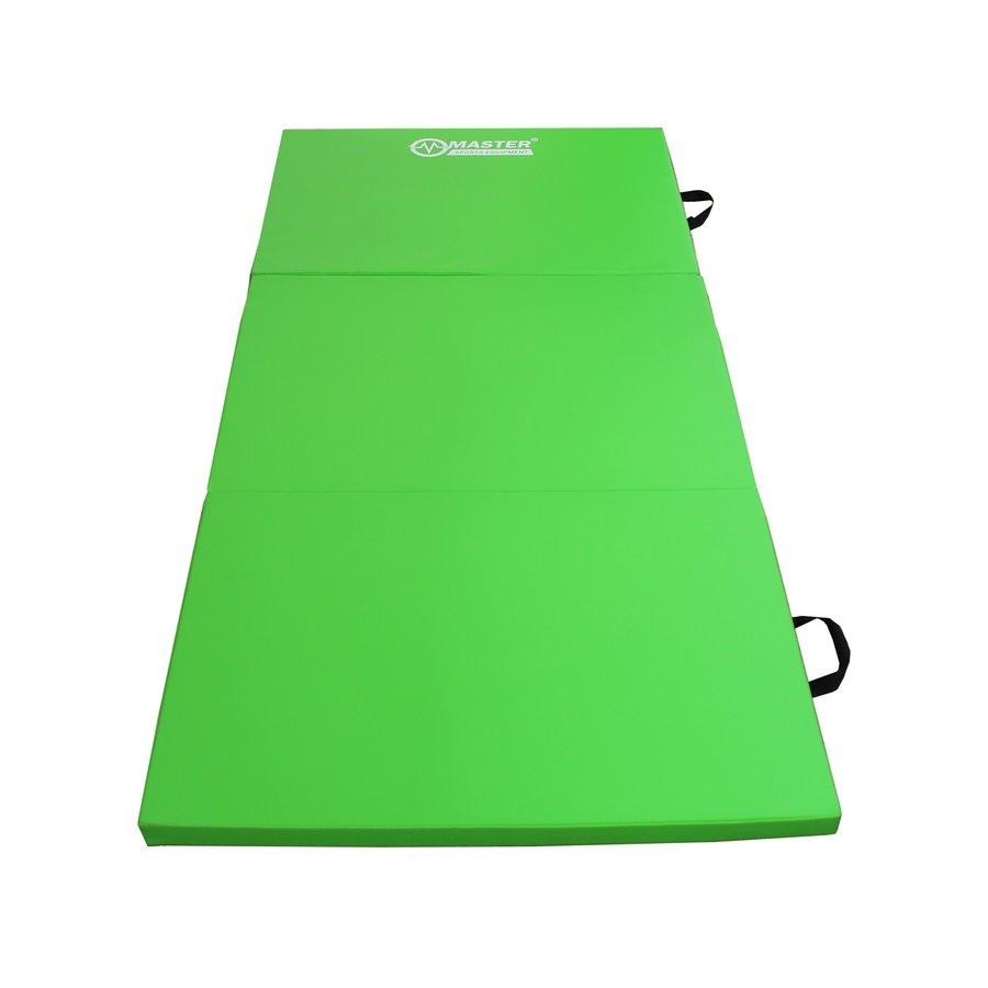 Zelená skládací žíněnka - délka 180 cm, šířka 90 cm a výška 5 cm