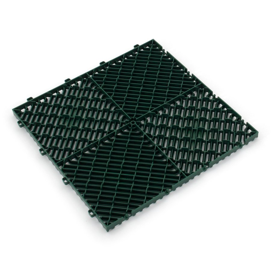 Zelená plastová terasová dlažba Linea Rombo - délka 39,5 cm, šířka 39,5 cm a výška 1,7 cm