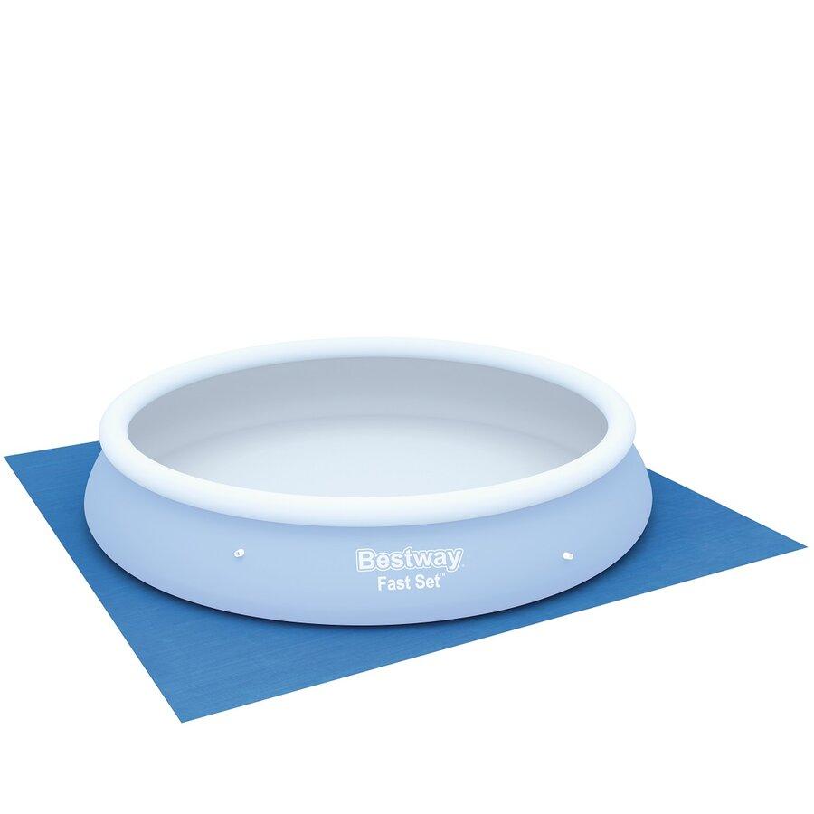 Modrá ochranná podložka pod bazén, vířivku Bestway - délka 488 cm a šířka 488 cm