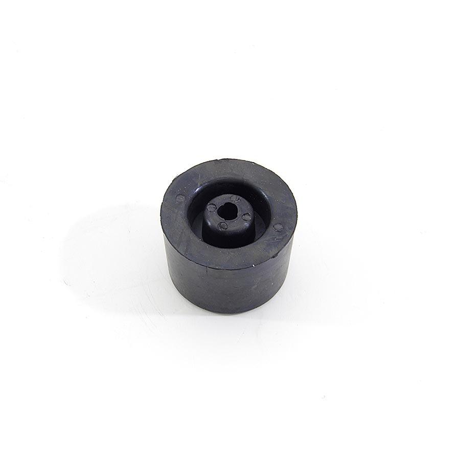 Černý pryžový kónický doraz s dírou pro šroub FLOMA - průměr 5 cm a výška 3,5 cm