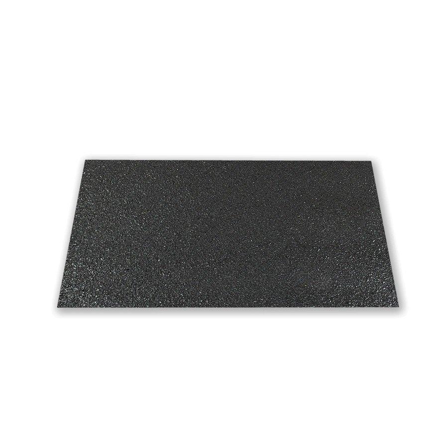 Černá korundová protiskluzová podložka (deska) Hard - délka 120 cm, šířka 80 cm a tloušťka 4 mm