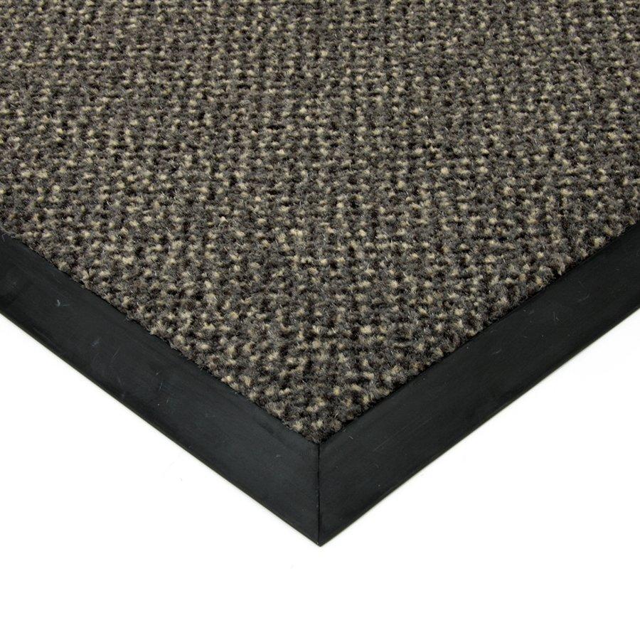 Šedá textilní čistící vnitřní vstupní rohož Cleopatra Extra, FLOMAT (Bfl-S1) - výška 1 cm