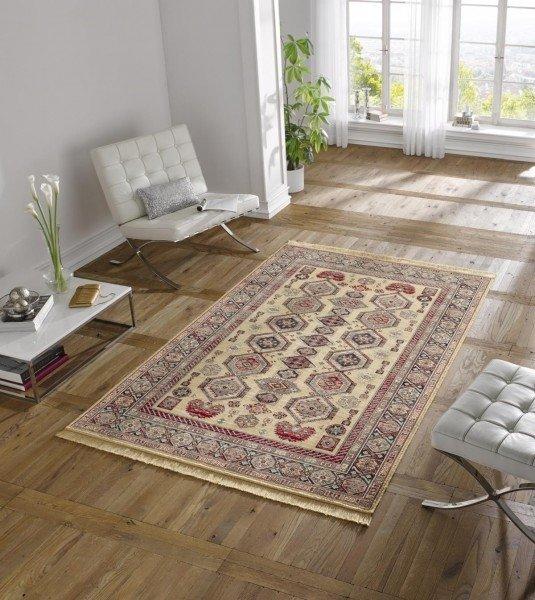 Béžový orientální kusový koberec Majestic - délka 300 cm a šířka 200 cm
