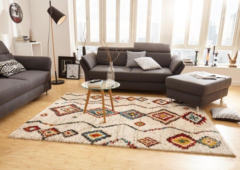 Různobarevný moderní kusový koberec Nomadic - délka 230 cm a šířka 160 cm