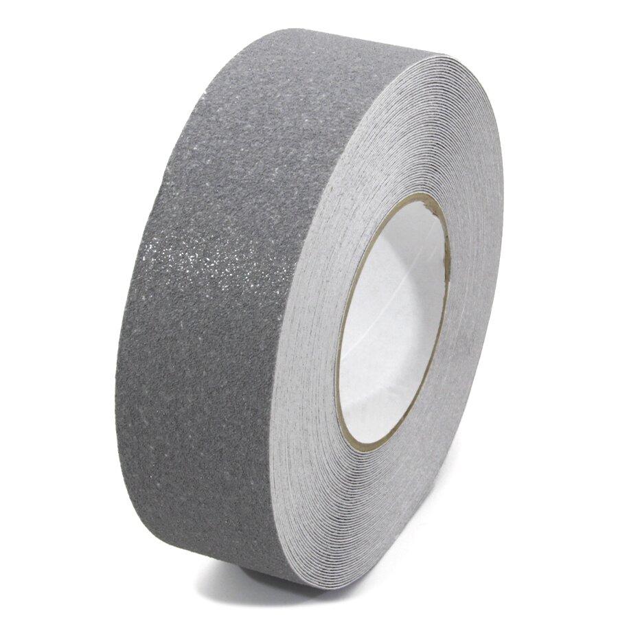 Šedá korundová protiskluzová páska FLOMA Standard - délka 18,3 m, šířka 5 cm a tloušťka 0,7 mm