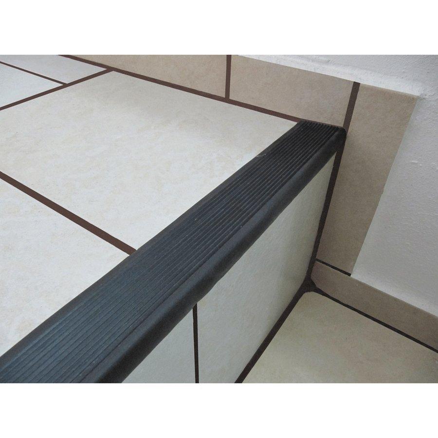 Béžová gumová schodová protiskluzová hrana - délka 5 m, šířka 4,7 cm a výška 2,1 cm