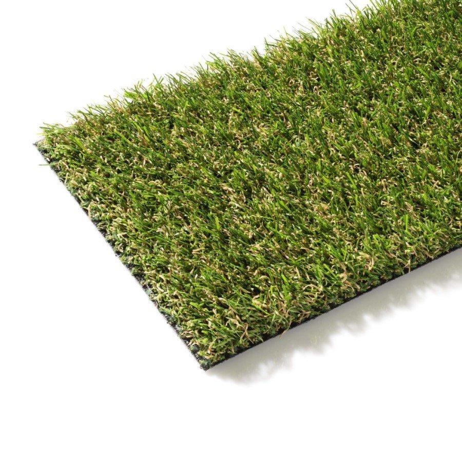 Zelený metrážový umělý trávník Milano, FLOMA - délka 1 cm a výška 2 cm