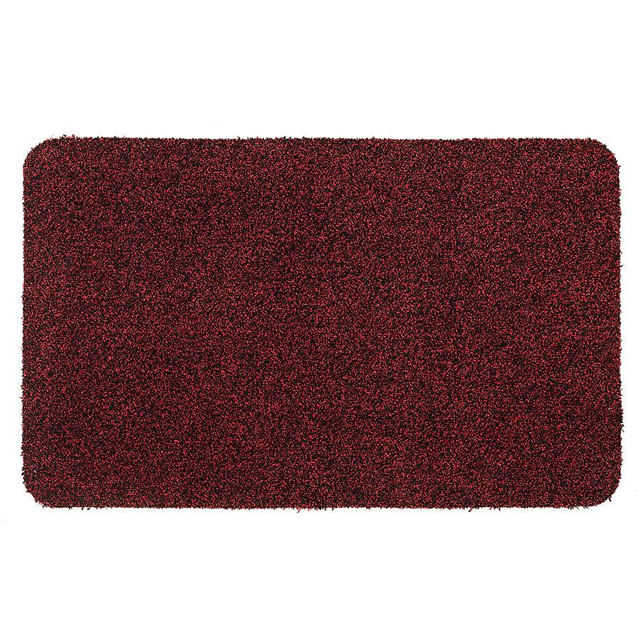 Červená metrážová čistící vnitřní vstupní pratelná rohož Majestic, FLOMA - délka 1 cm a výška 0,6 cm