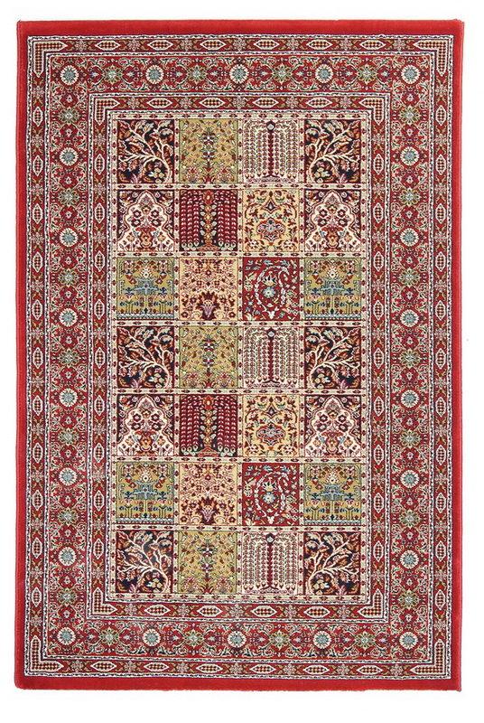Červený kusový orientální koberec Tashkent