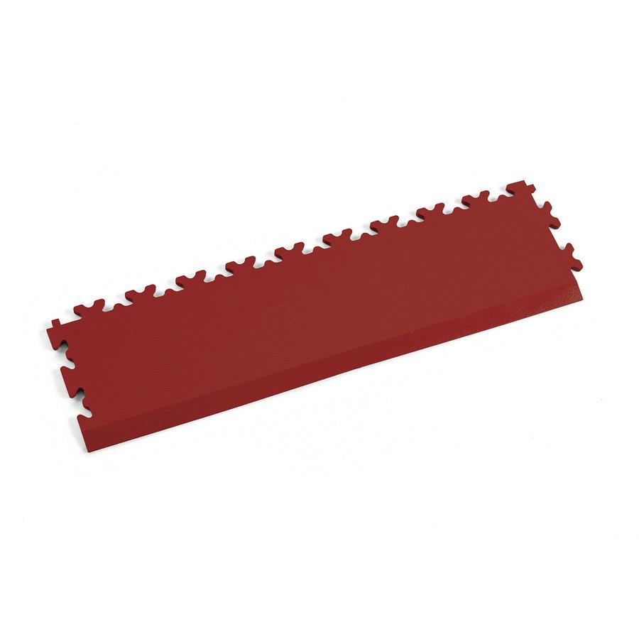 Červený vinylový plastový nájezd Fortelock 2025 (kůže) - délka 51 cm, šířka 14 cm a výška 0,7 cm
