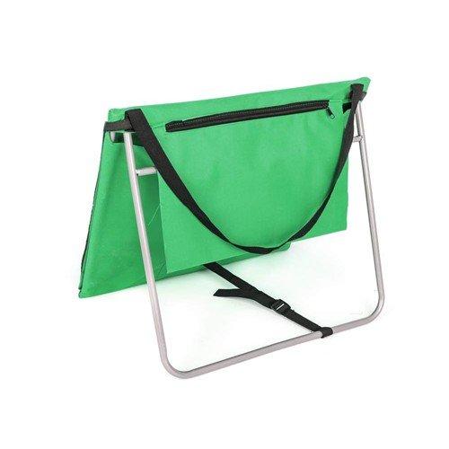Zelené skládací plážové lehátko s ocelovou konstrukcí - délka 150 cm a šířka 54 cm