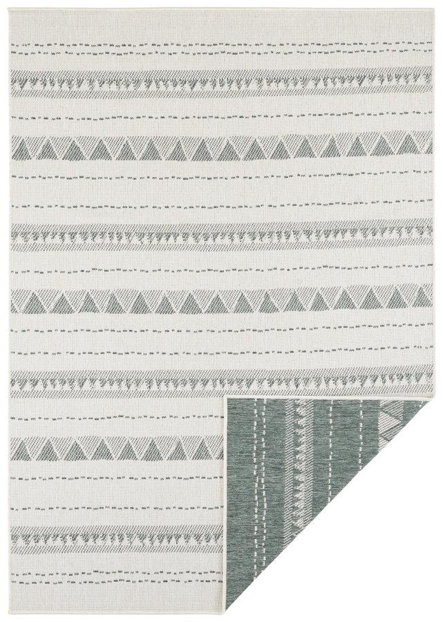 Zelený oboustranný moderní koberec Twin-Supreme