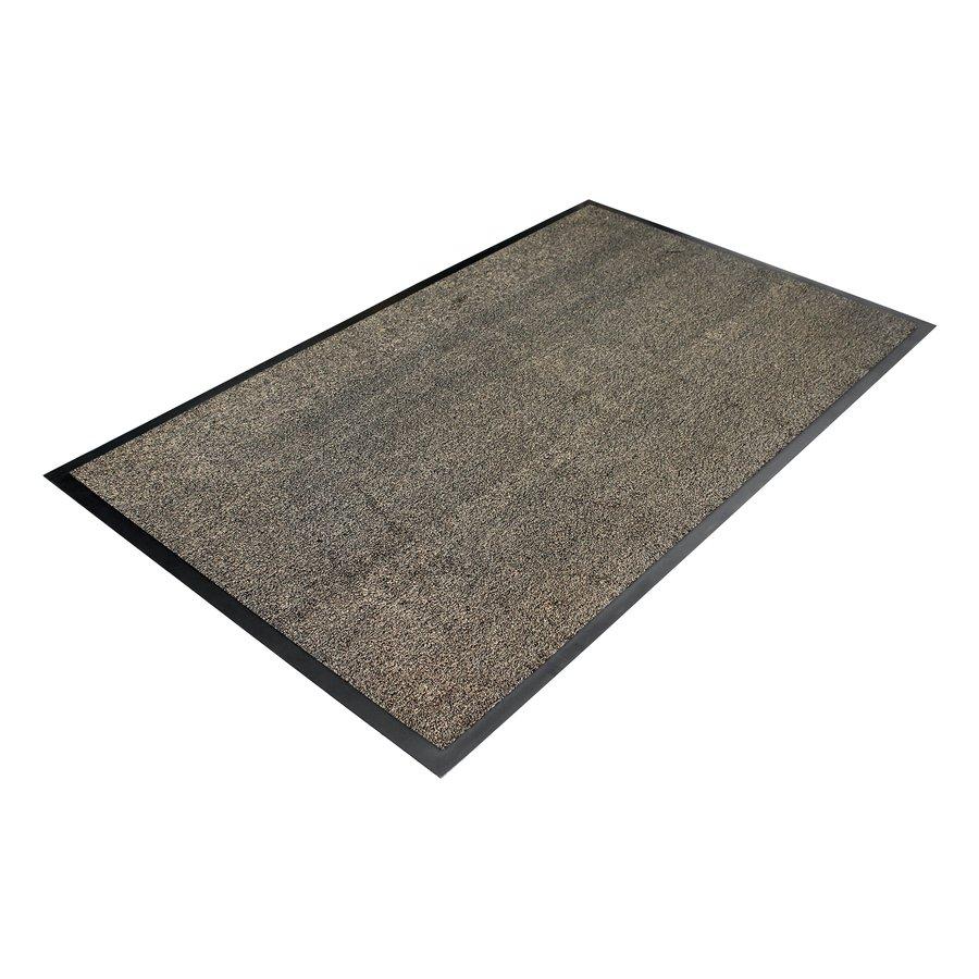 Béžová textilní vstupní vnitřní čistící rohož - délka 60 cm, šířka 90 cm a výška 0,8 cm