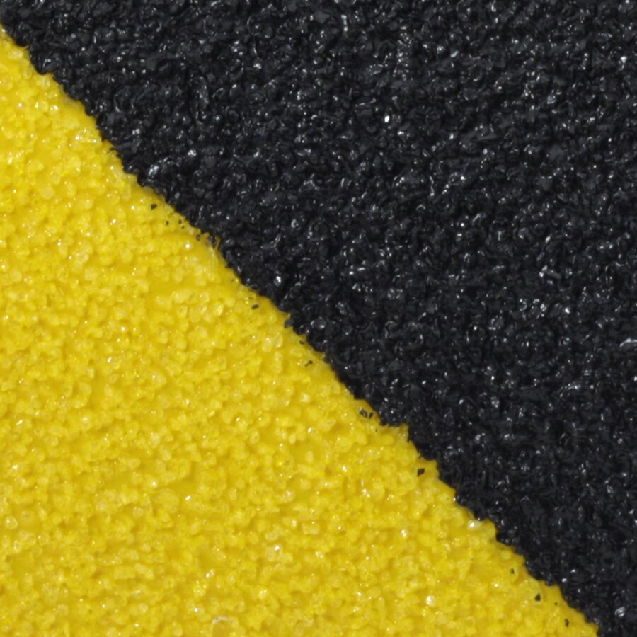 Černo-žlutá korundová protiskluzová páska FLOMA Super Hazard - délka 18,3 m, šířka 5 cm a tloušťka 1 mm