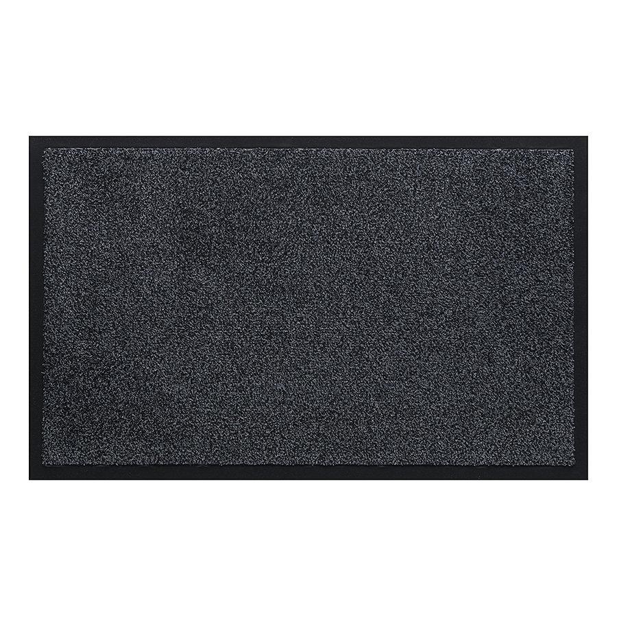 Antracitová vnitřní vstupní čistící pratelná rohož Watergate, FLOMA - délka 50 cm a šířka 80 cm