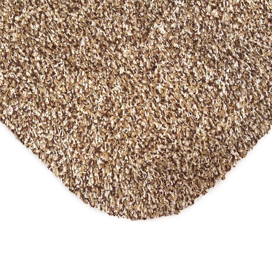 Béžová bavlněná vstupní vnitřní čistící rohož - délka 100 cm, šířka 75 cm a výška 0,4 cm