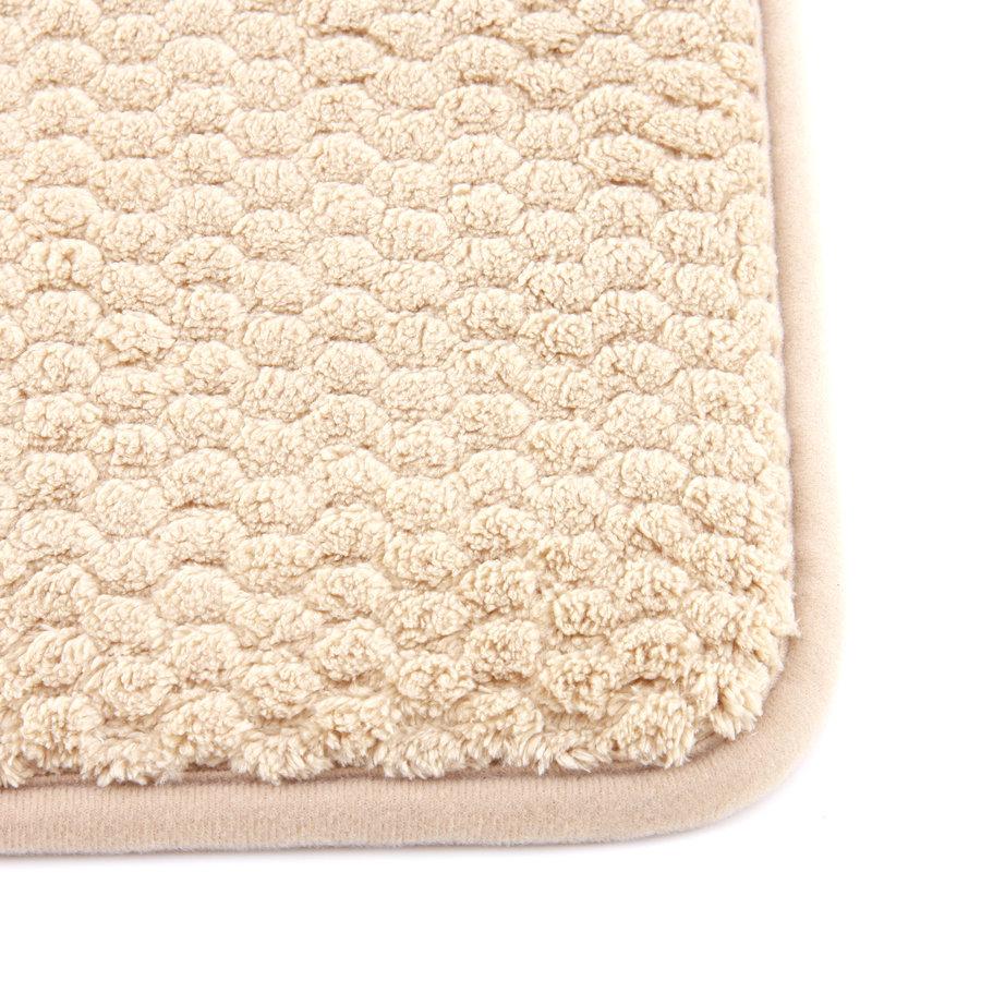 Béžová koupelnová pěnová předložka 01 - délka 81 cm a šířka 51 cm