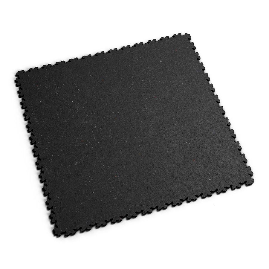 Černá vinylová plastová zátěžová dlaždice XL Eco 2230 (hadí kůže), Fortelock - délka 65,3 cm, šířka 65,3 cm a výška 0,4 cm