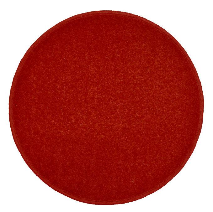 Vínový kusový kulatý koberec Eton