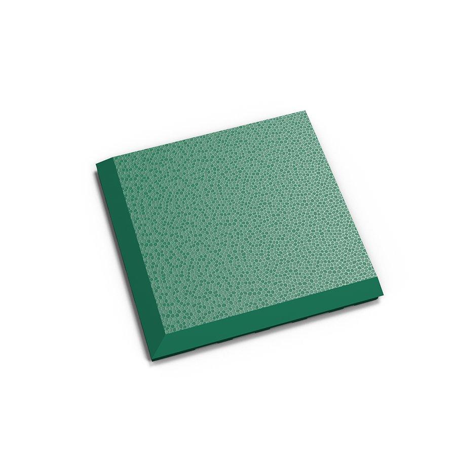 """Zelený vinylový plastový rohový nájezd """"typ C"""" Invisible 2038 (hadí kůže), Fortelock - délka 14,5 cm, šířka 14,5 cm a výška 0,67 cm"""