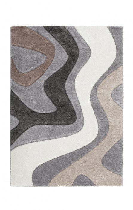 Šedý kusový moderní koberec Acapulco - délka 170 cm a šířka 120 cm