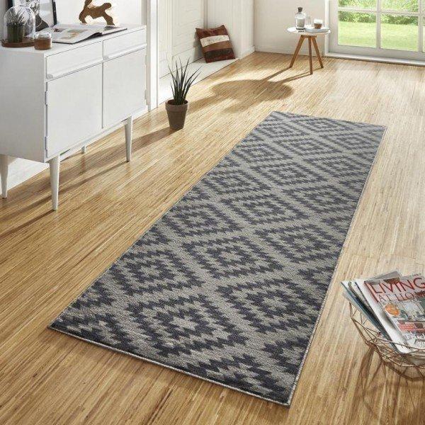 Šedý kusový moderní koberec Basic - šířka 80 cm