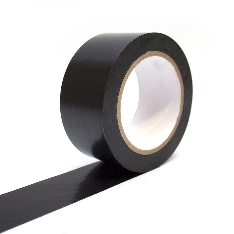 Černá vyznačovací samolepící podlahová páska - délka 33 m a šířka 5 cm