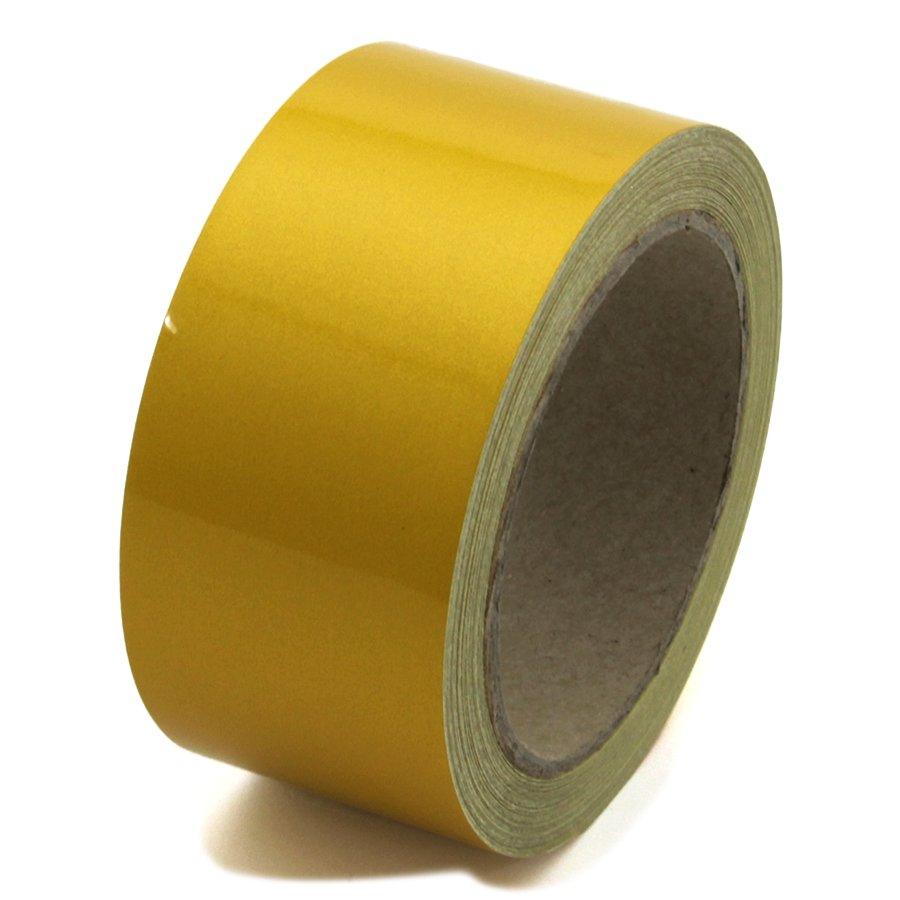 Žlutá reflexní výstražná páska - délka 15 m a šířka 5 cm