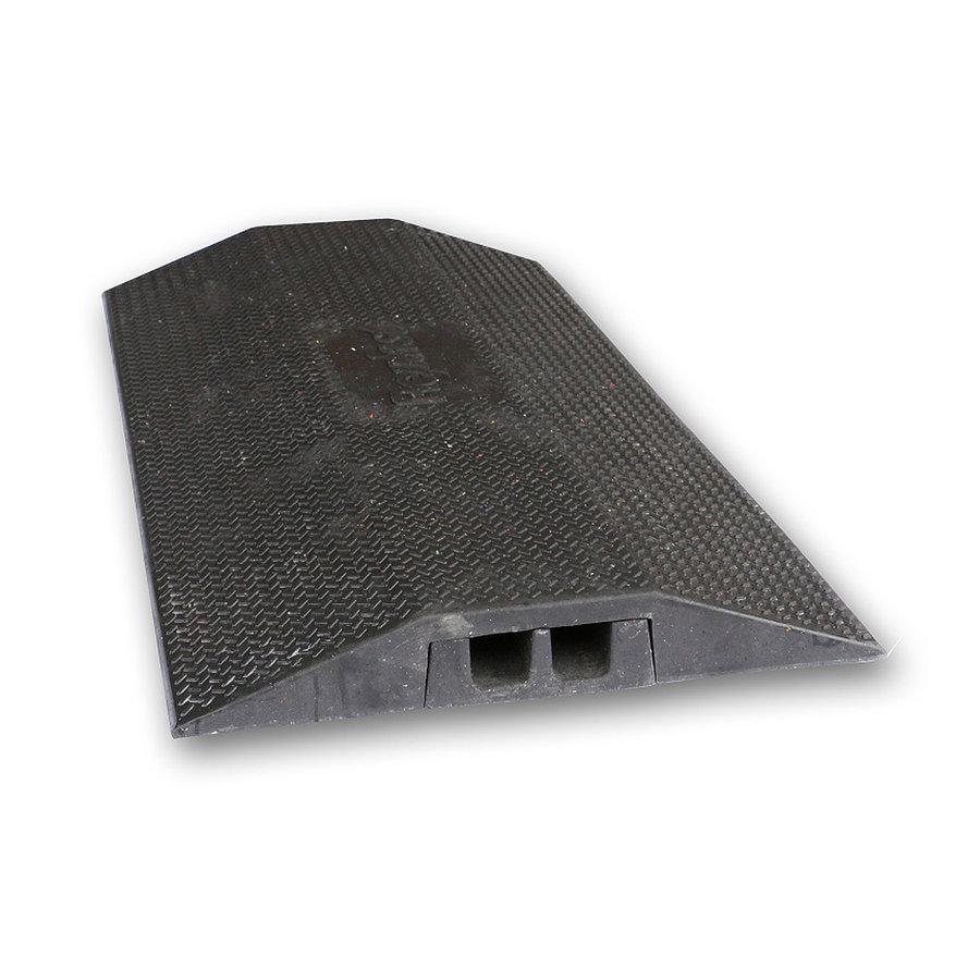 Černý plastový kabelový most s vložkou - délka 100 cm, šířka 49 cm a výška 7 cm