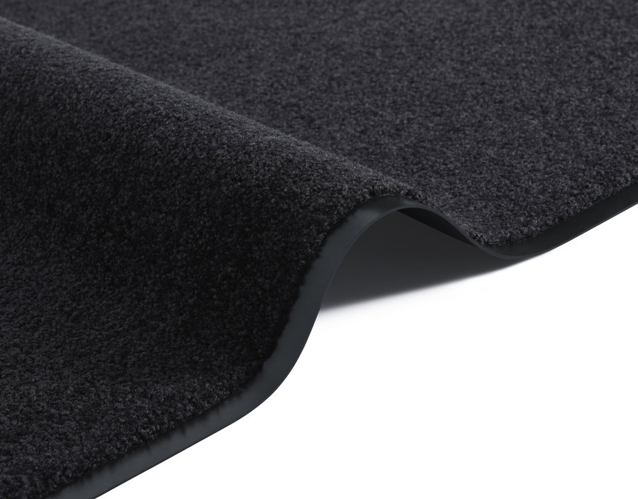 Černý kusový koberec Wash & Clean - šířka 60 cm