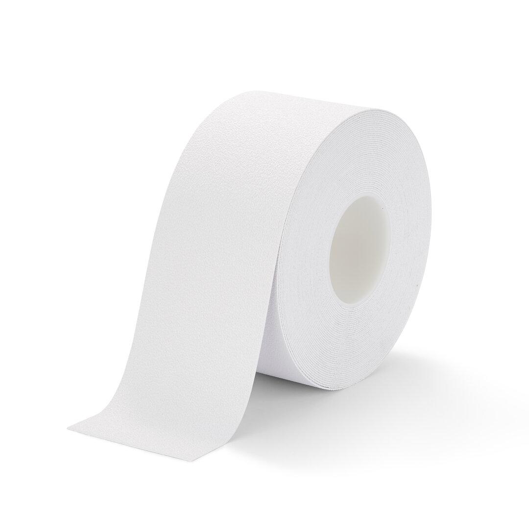 Bílá plastová protiskluzová voděodolná podlahová páska FLOMA - délka 18,3 m, šířka 10 cm a tloušťka 1,3 mm