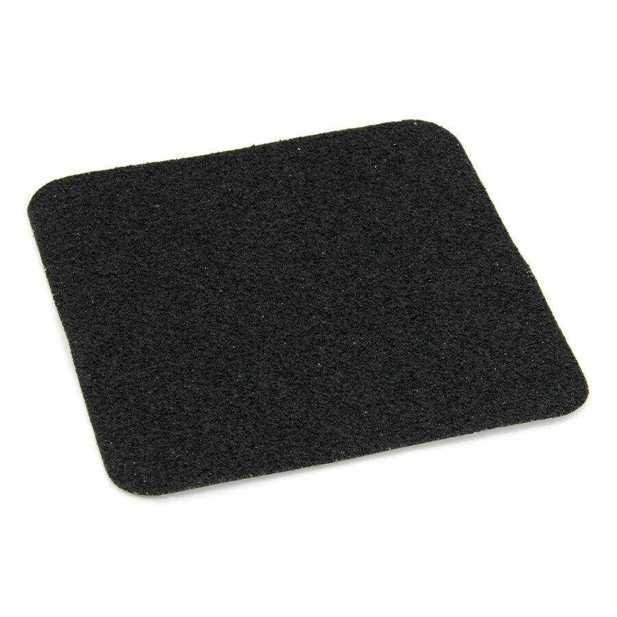 Černá korundová protiskluzová páska (dlaždice) FLOMA Extra Super - délka 14 cm, šířka 14 cm a tloušťka 1,7 mm
