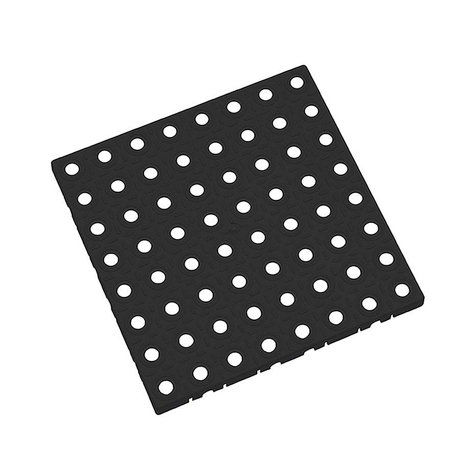 Černá plastová modulární dlaždice AvaTile - délka 25 cm, šířka 25 cm a výška 1,6 cm