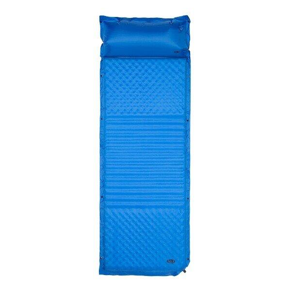 Modrá samonafukovací karimatka s podhlavníkem NILS CAMP NC4001 - délka 190 cm, šířka 63 cm a výška 3,8 cm