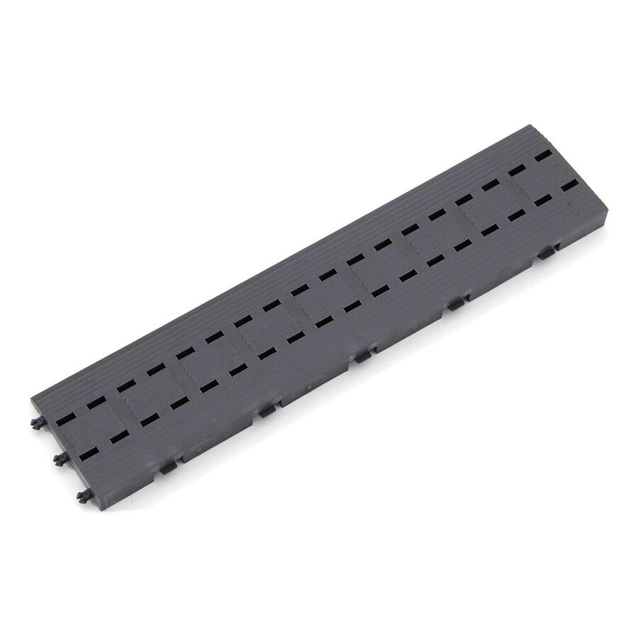 """Šedý plastový vstupní zátěžový nájezd """"samec"""" (Bfl-S1) - délka 33 cm, šířka 7 cm a výška 1,75 cm"""