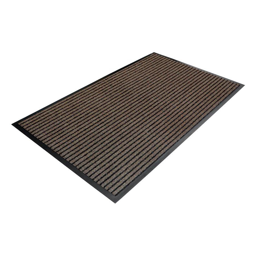 Hnědá textilní vstupní vnitřní čistící rohož 02 - délka 90 cm, šířka 150 cm a výška 0,7 cm