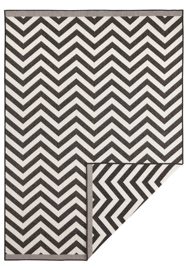 Hnědý oboustranný moderní koberec Twin-Supreme, Palma